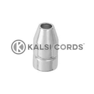 Metal Bullet Shaped Toggles BT Silver Kalsi Cords 3