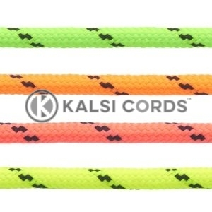 5mm Round Polyester Cord Fluorescent 2 Fleck Pattern