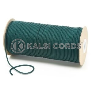 T460 2mm Thin Round Polyester Cord Cedar Green Kalsi Cords