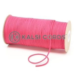 T460 2mm Thin Round Polyester Cord Cerise Pink Kalsi Cords