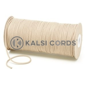 T460 2mm Thin Round Polyester Cord Cream Kalsi Cords