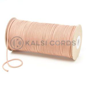 T460 2mm Thin Round Polyester Cord Dark Beige Kalsi Cords