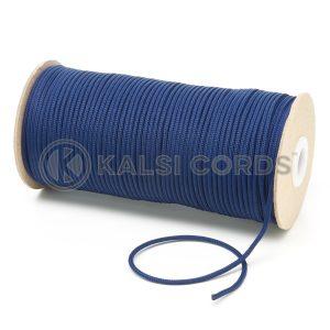 T460 2mm Thin Round Polyester Cord Dark Blue Kalsi Cords