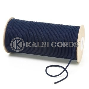 T460 2mm Thin Round Polyester Cord Dark Navy Kalsi Cords