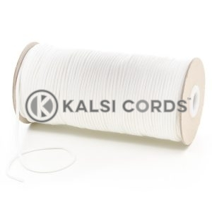 T460 2mm Thin Round Polyester Cord Ecru off white Kalsi Cords