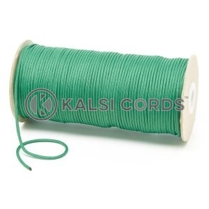 T460 2mm Thin Round Polyester Cord Emerald Green Kalsi Cords