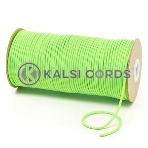 T460 2mm Thin Round Polyester Cord Fluorescent Lime Kalsi Cords