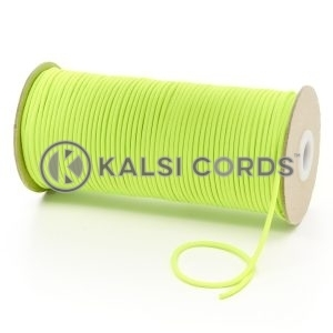 T460 2mm Thin Round Polyester Cord Fluorescent Yellow Kalsi Cords