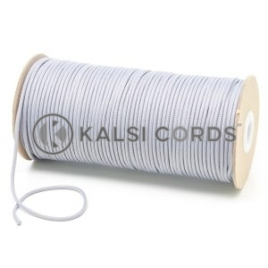 T460 2mm Thin Round Polyester Cord Frosted Silver Kalsi Cords