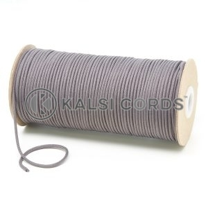 T460 2mm Thin Round Polyester Cord Grey Kalsi Cords