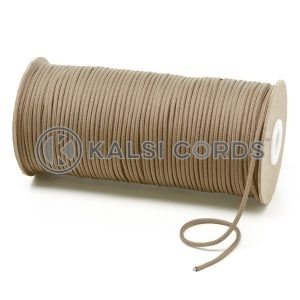 T460 2mm Thin Round Polyester Cord Light Fawn Kalsi Cords