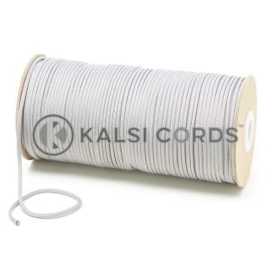T460 2mm Thin Round Polyester Cord Light Grey Kalsi Cords