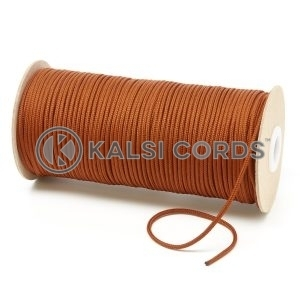 T460 2mm Thin Round Polyester Cord Nutmeg Kalsi Cords