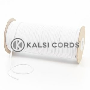 T460 2mm Thin Round Polyester Cord Optic White Kalsi Cords