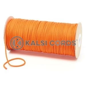 T460 2mm Thin Round Polyester Cord Orange Kalsi Cords