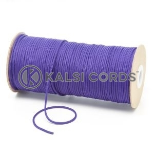 T460 2mm Thin Round Polyester Cord Purple Kalsi Cords