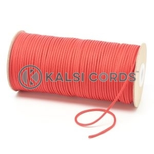 T460 2mm Thin Round Polyester Cord Rose Madder Red Kalsi Cords