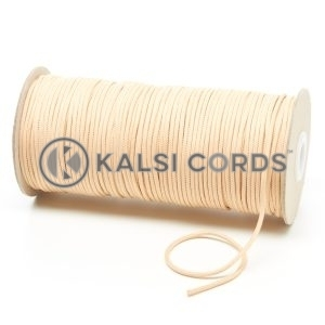 T460 2mm Thin Round Polyester Cord Sahara Beige Kalsi Cords
