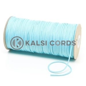 T460 2mm Thin Round Polyester Cord Turquoise Kalsi Cords