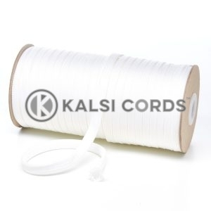T461 7mm Flat Tubular Polyester Braid Ecru Kalsi Cords