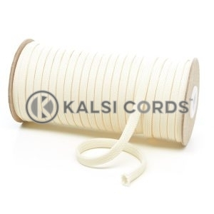 T461 7mm Flat Tubular Polyester Braid Ermine Kalsi Cords