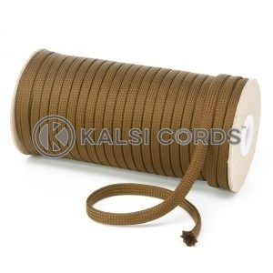 T461 7mm Flat Tubular Polyester Braid Everglade Kalsi Cords