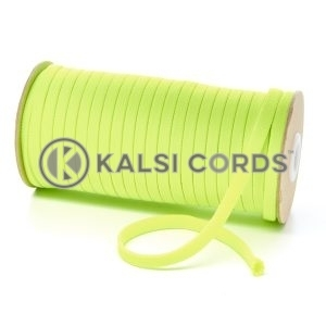 T461 7mm Flat Tubular Polyester Braid Fluorescent Yellow Kalsi Cords