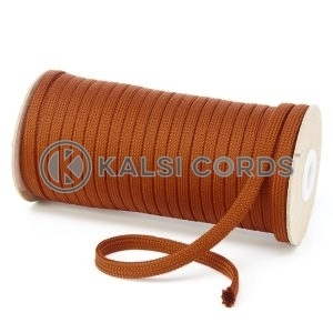 T461 7mm Flat Tubular Polyester Braid Nutmeg Kalsi Cords
