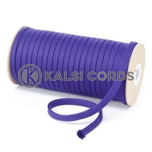 T461 7mm Flat Tubular Polyester Braid Purple Kalsi Cords