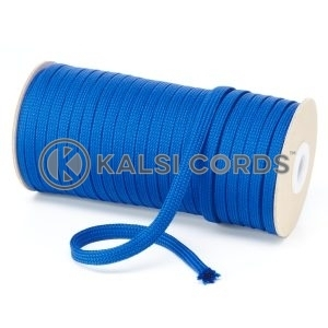 T461 7mm Flat Tubular Polyester Braid Royal Blue Kalsi Cords