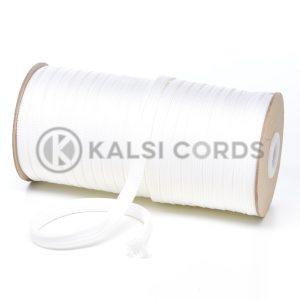 T638 8mm Flat Tubular Polyester Braid Ecru Kalsi Cords