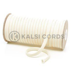 T638 8mm Flat Tubular Polyester Braid Ermine Kalsi Cords
