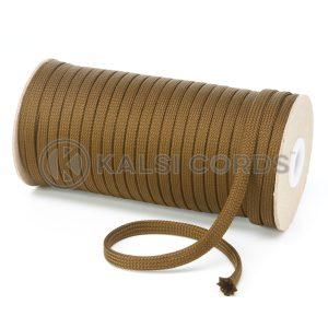 T638 8mm Flat Tubular Polyester Braid Everglade Kalsi Cords