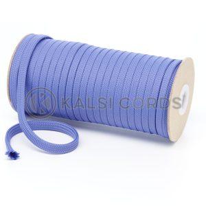 T638 8mm Flat Tubular Polyester Braid Lilac Kalsi Cords