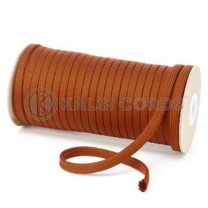 T638 8mm Flat Tubular Polyester Braid Nutmeg Kalsi Cords