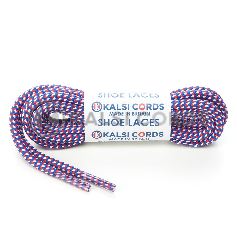 Royal Blue White Red Herringbone 5mm