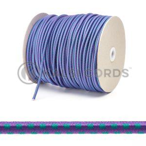 PE114 5mm Round Bungee Shock Cord Purple with Green Blocks Edit 3 Kalsi Cords 1
