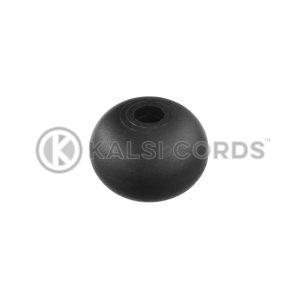 6mm Plastic Ball Ties Rope End Tidy PBT 6 BLK Kalsi Cords 1