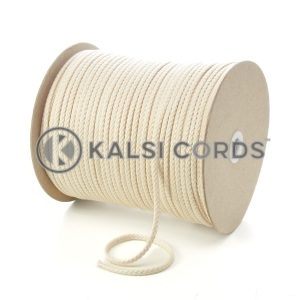 C207 5mm Round Cotton Cord Natural Undyed Kalsi Cords