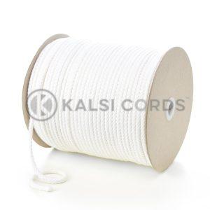 C207 5mm Round Cotton Cord White Kalsi Cords