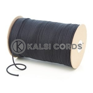 C250 2mm Thin Round Cotton Cord Black Kalsi Cords