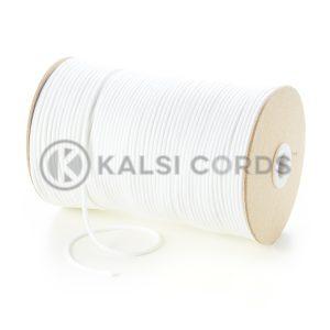 C250 2mm Thin Round Cotton Cord White Kalsi Cords