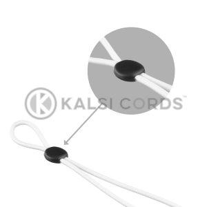 Face Mask Ear Loop Elastic with Black Rubber Flat Circular Stopper Adjuster Kalsi Cords Category Tile 1