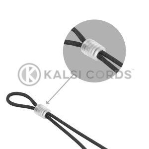 Face Mask Ear Loop Elastic with Clear Rubber Cylinder Stopper Adjuster Kalsi Cords Category Tile 1