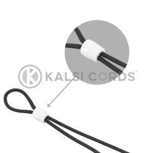 Face Mask Ear Loop Elastic with White Rubber Cylinder Stopper Adjuster Kalsi Cords Category Tile 1