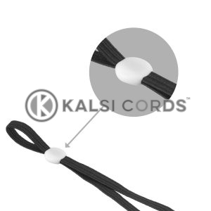 Face Mask Ear Loop Elastic with White Rubber Flat Circular Stopper Adjuster Kalsi Cords Category Tile 1