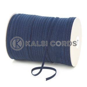 Dark Navy 6mm 8 Cord Flat Braided Elastic Roll Sewing Tailoring Face Masks TPE11 Kalsi Cords