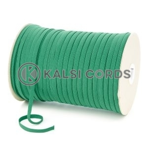 Emerald Green 6mm 8 Cord Flat Braided Elastic Roll Sewing Tailoring Face Masks TPE11 Kalsi Cords