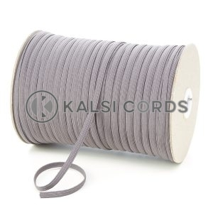 Grey 6mm 8 Cord Flat Braided Elastic Roll Sewing Tailoring Face Masks TPE11 Kalsi Cords