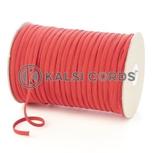 Red 6mm 8 Cord Flat Braided Elastic Roll Sewing Tailoring Face Masks TPE11 Kalsi Cords